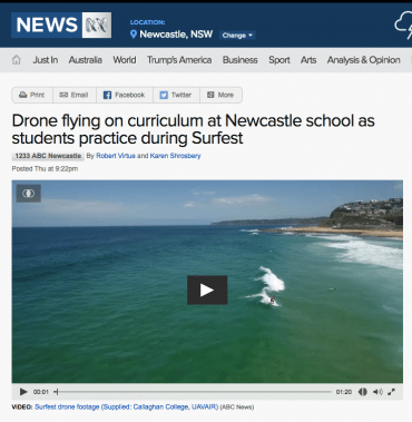 A school in Newcastle is teaching students how to fly drones