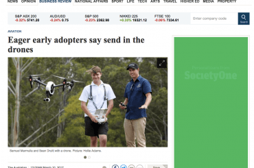 Eager early adopters say send in the drones – The Australian